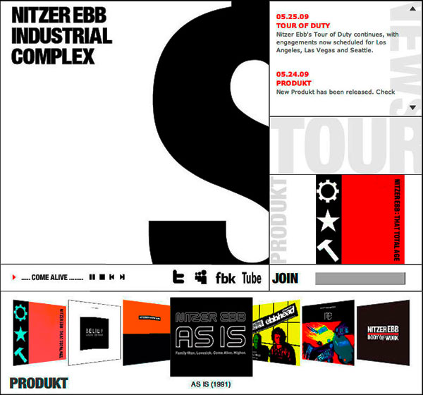 Nitzer Ebb - Industrial Complex Website